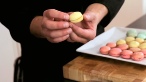 sandwich the macarons