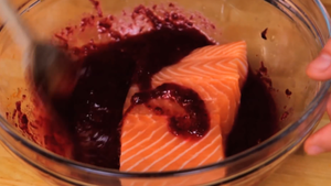 cure the salmon