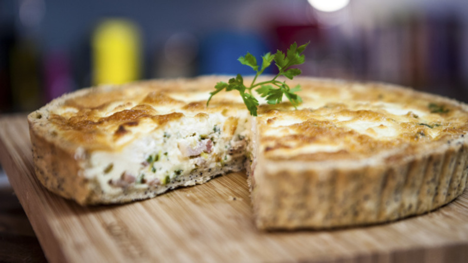 BACON AND LEEK QUICHE