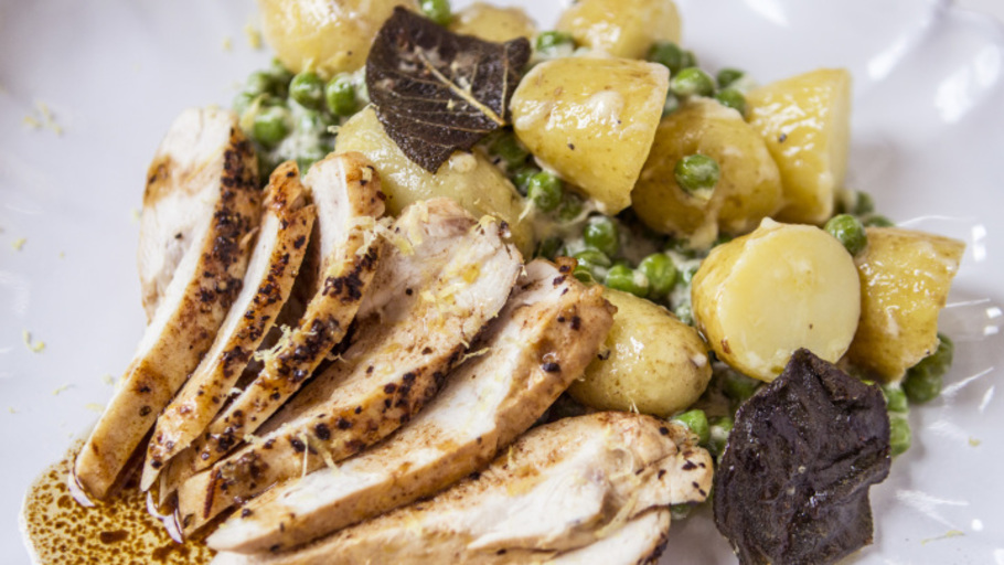 LEMON AND SAGE ROASTED CHICKEN