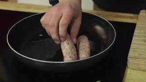 cook the sausages
