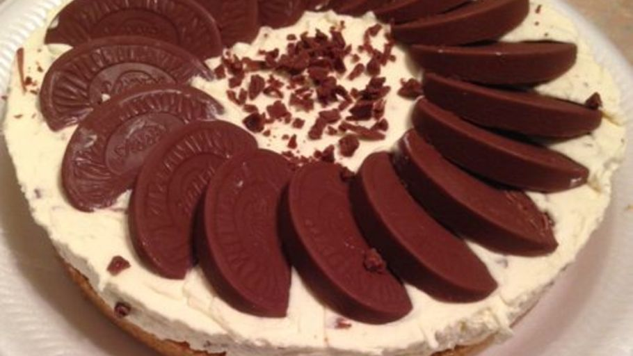 NO BAKE TERRY'S CHOCOLATE ORANGE CHEESECAKE