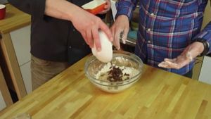 Add the dough to a bowl
