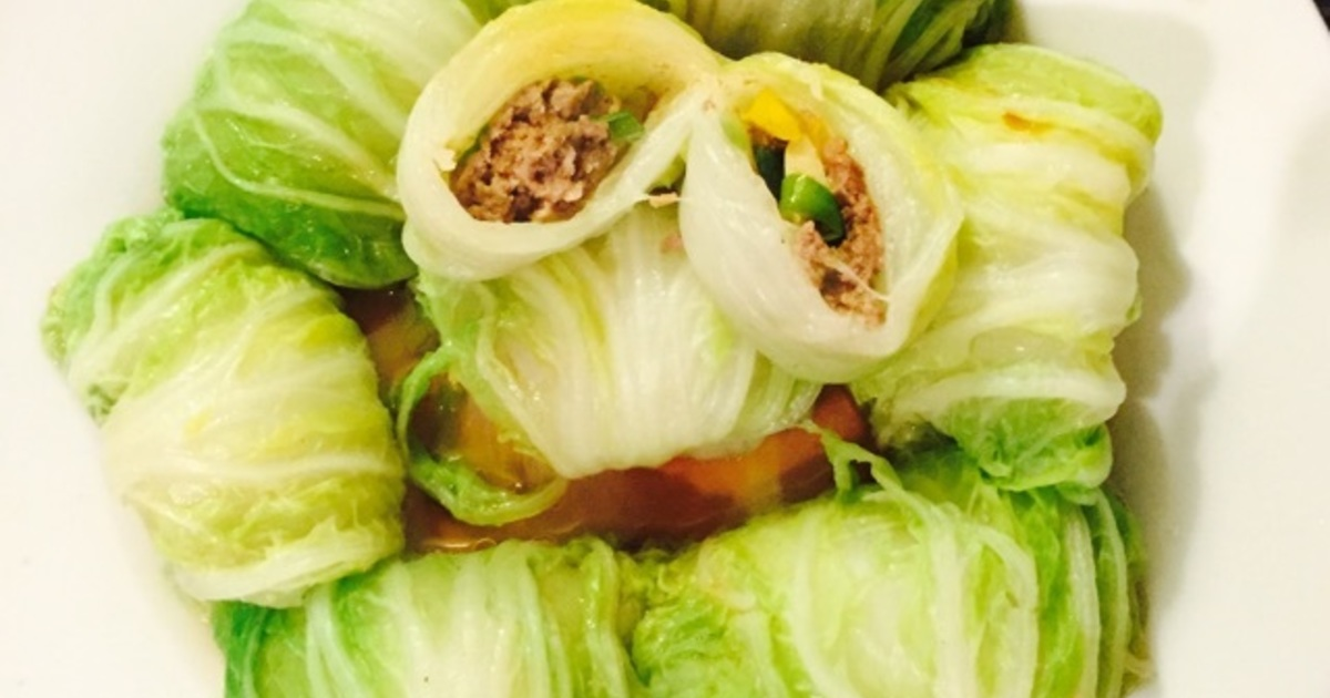 Steamed Chinese Cabbage Roll