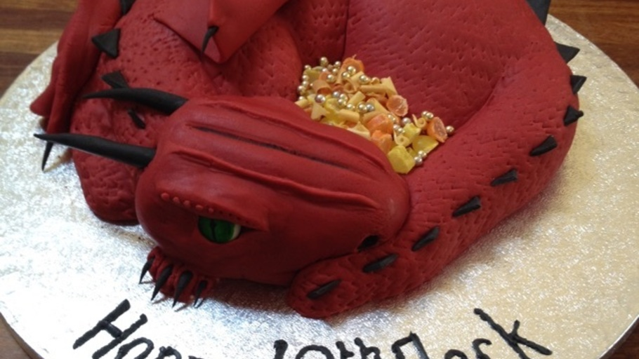 Sculpted Dragon Cake