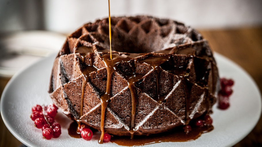 Black Raspberry Bundt Cake
