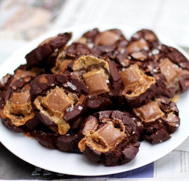 Salted Caramel Double Choc Cookies