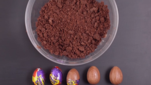 Wrap the creme eggs