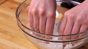 rub flour and butter