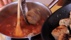 Cook the Meatballs in Sauce