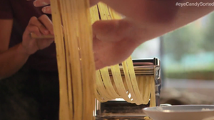 roll out and cut the pasta