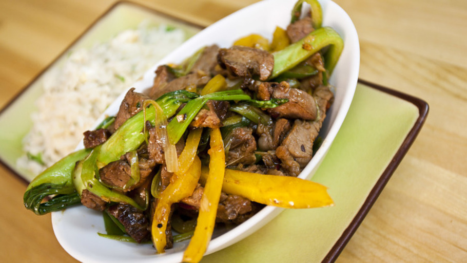 BEEF IN BLACK BEAN STIR-FRY