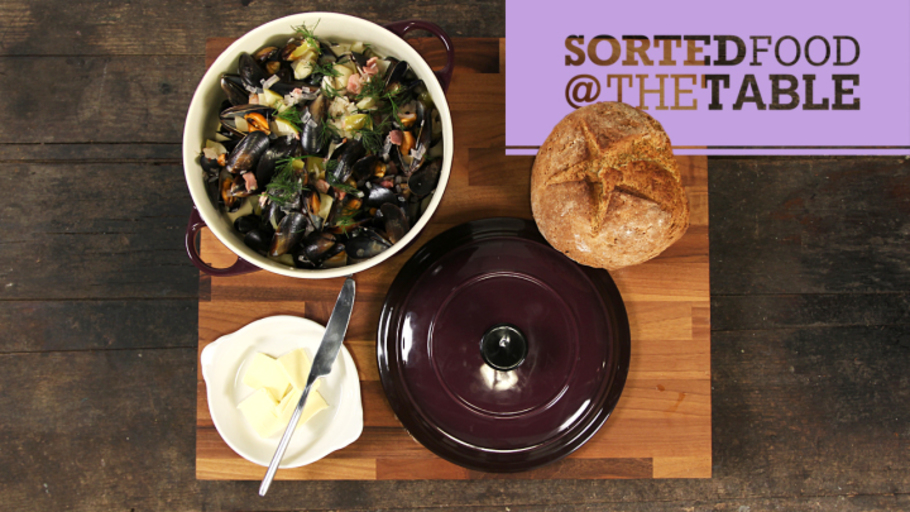 CIDER MUSSELS AND SODA BREAD