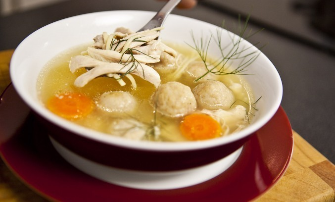 Chicken Noodle Soup And Matzo Balls