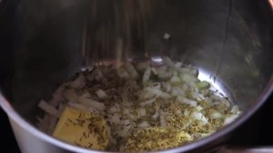 add garlic and thyme