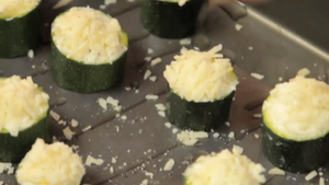Bake the filled courgettes